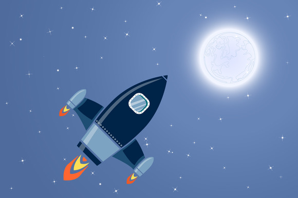 Space Rocket Vector Download » Designtube
