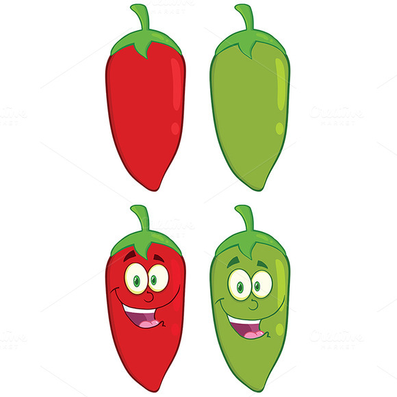 Chili Pepper. Collection Set - Illustrations