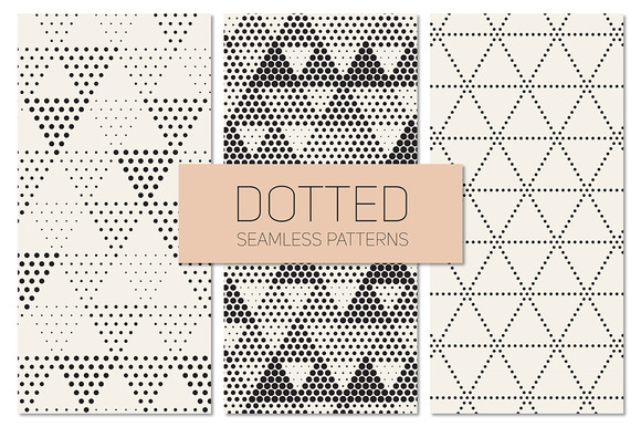 Dotted Seamless Patterns. Set 7 - Patterns