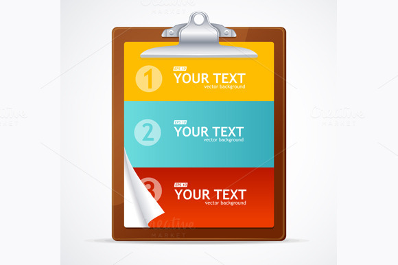 Blank Clipboard Concept. Vector - Illustrations