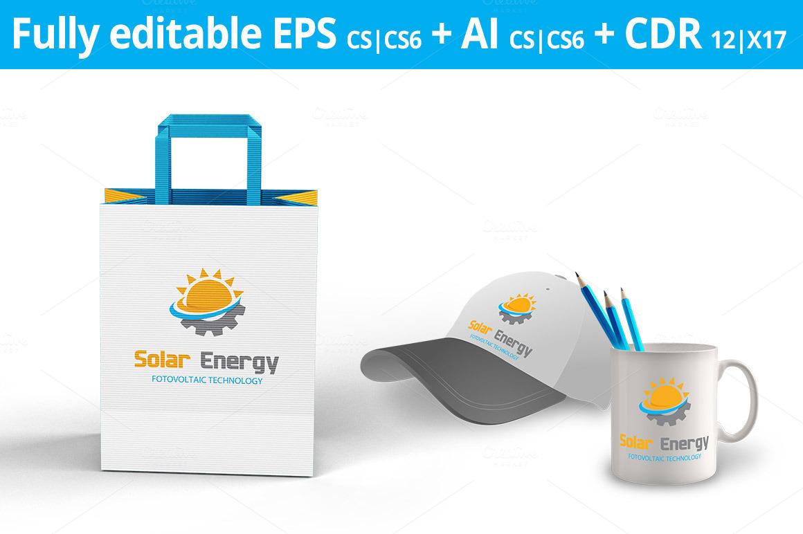 Solar Energy Logo Logo Templates On Creative Market
