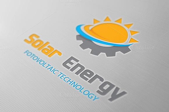 solar energy logo logo templates on creative market. Black Bedroom Furniture Sets. Home Design Ideas
