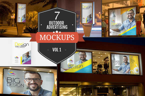 Outdoor Advertising Mockups Vol. 1 - Product Mockups