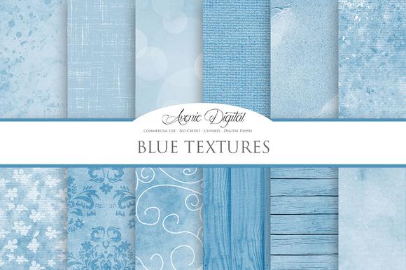 Blue Textures Background