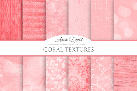 Coral Background Textures