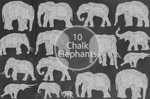 Chalk Elephants