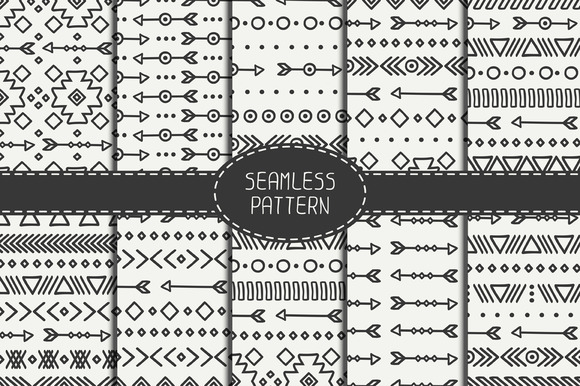 10 Ethnic Seamless Patterns
