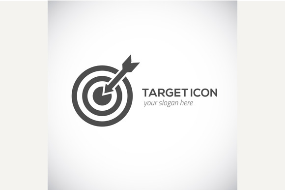 Target icon. Target logo concept. - Graphics