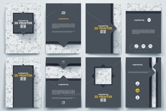 Brochure on 3d printer theme brochure templates on for 3d brochure template