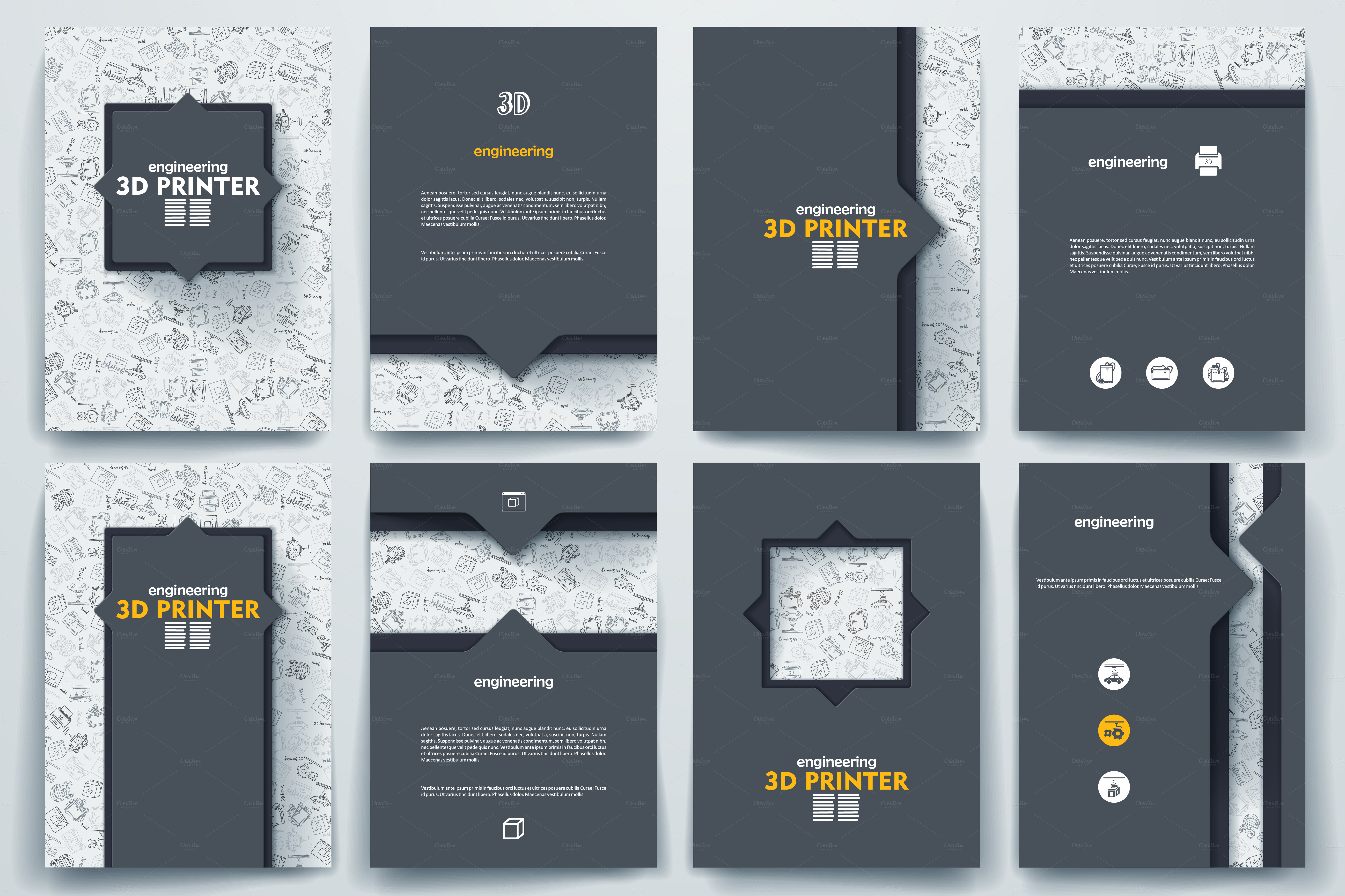 Brochure on 3d printer theme brochure templates on for 3d brochure design
