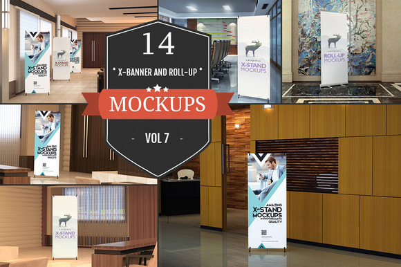 XStand & Rollup Banner Mockups Vol.1 - Product Mockups