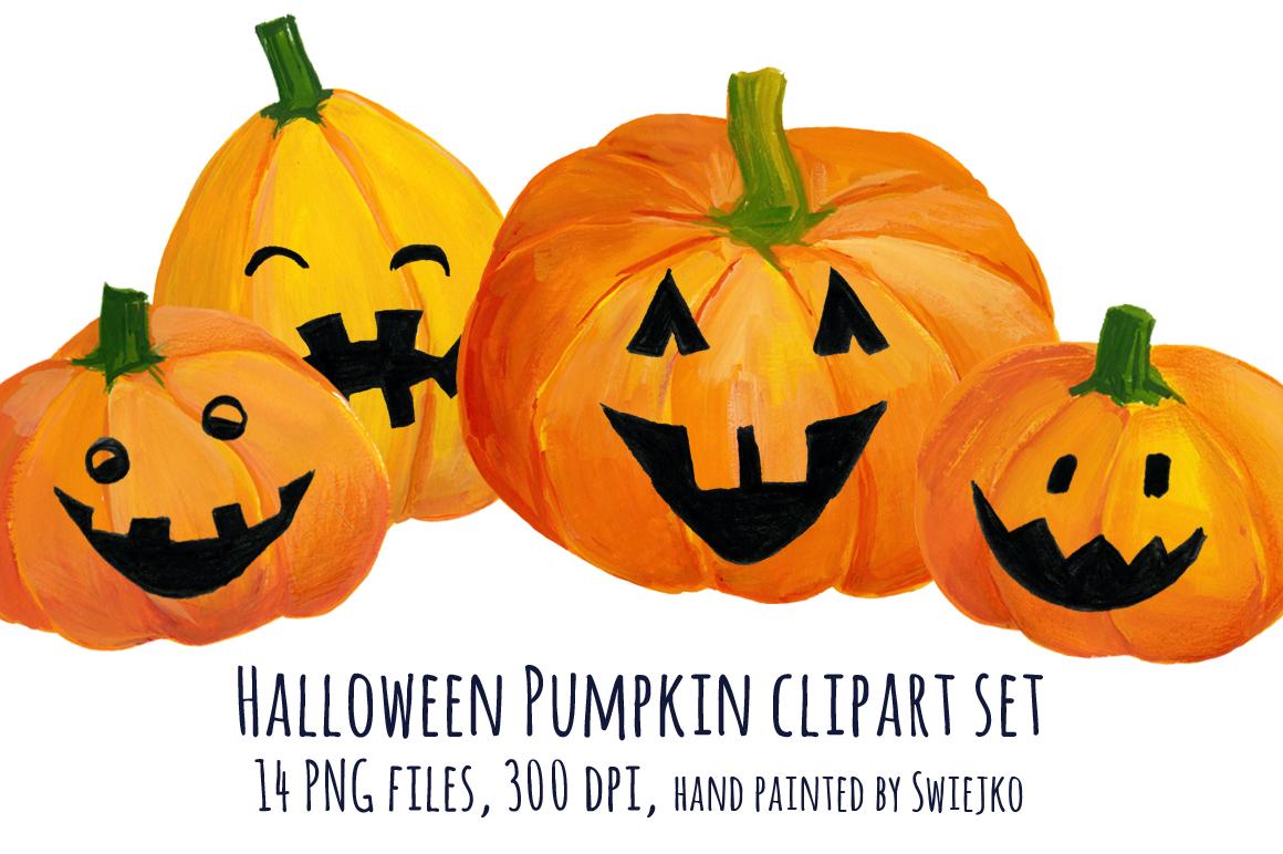 Halloween pumpkin clip art illustrations on creative market for Halloween pumpkin clipart