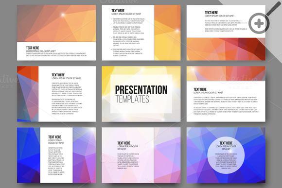 Set Of 45 Templates For Presentation