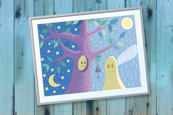 Happy Halloween. Fairy forest - Illustrations