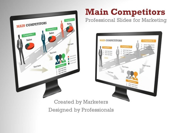 Main Competitors PowerPoint Template - Presentations - 1
