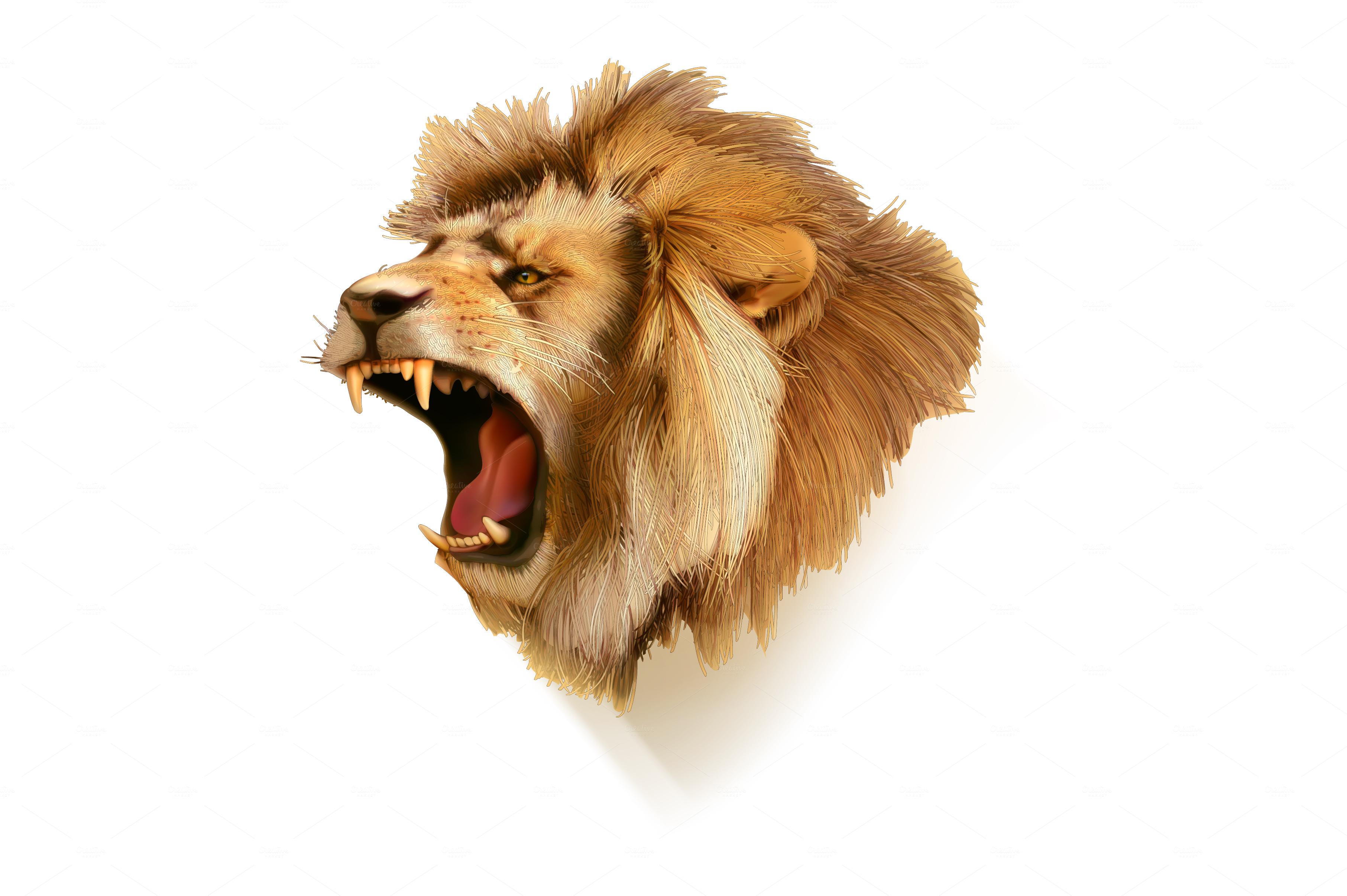 Roaring lion icon ~ Icons on Creative Market: https://creativemarket.com/Natis/372718-Roaring-lion-icon