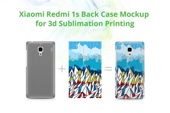 Xiomi Redmi 1S 3D Case Mockup