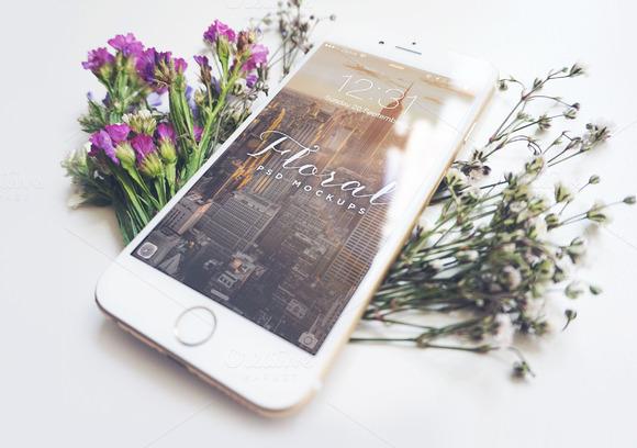 Floral IPhone 6 Mockup I