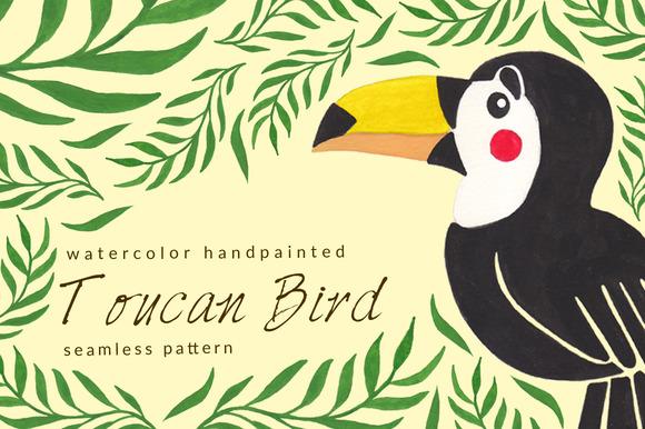 Toucan Watercolor Seamles Pattern