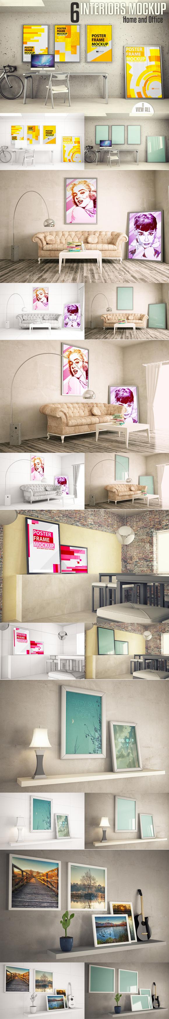Interiors mock-up Vol. 2 - Product Mockups