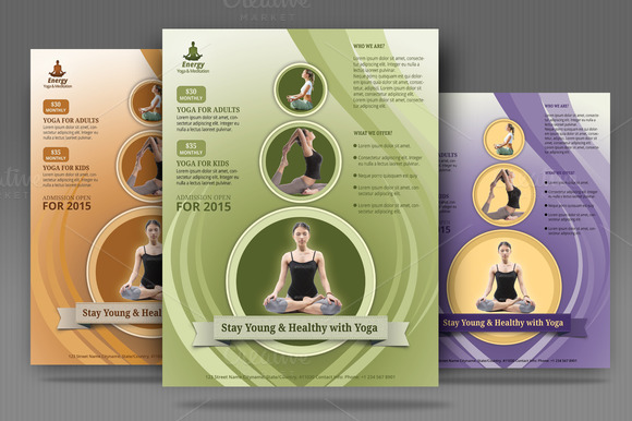 Meditation Flyer Yoga Meditation Simple Flyer