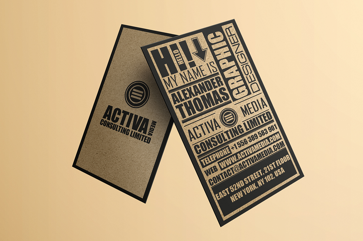 Kraft Paper Typography Business Card Business Card
