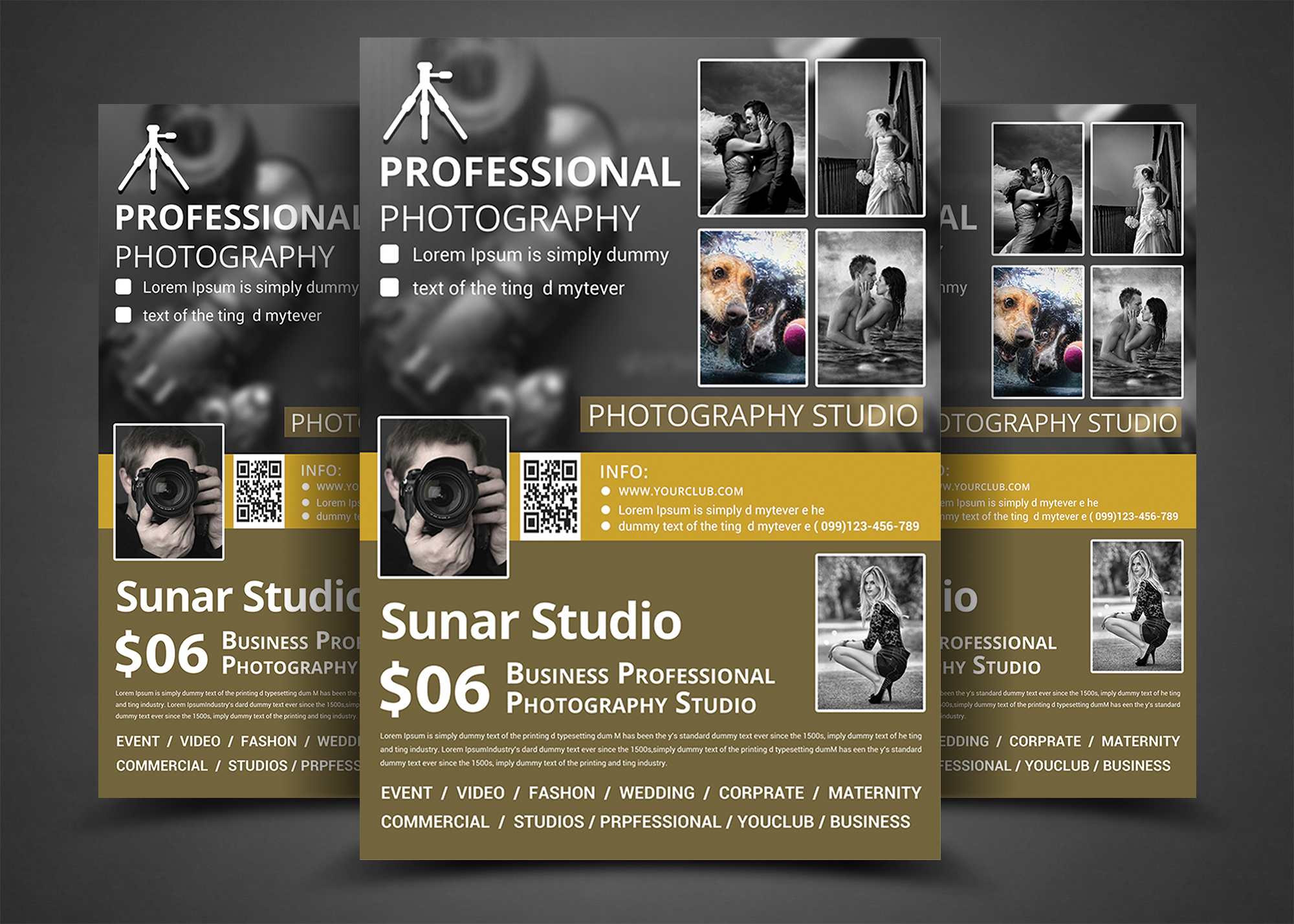 photography business flyer bundle