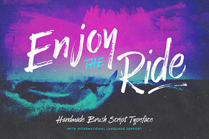 Enjoy the Ride - Typeface