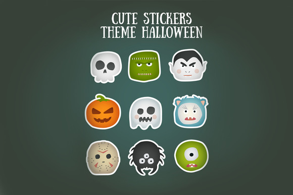 Cute Stickers Theme Halloween