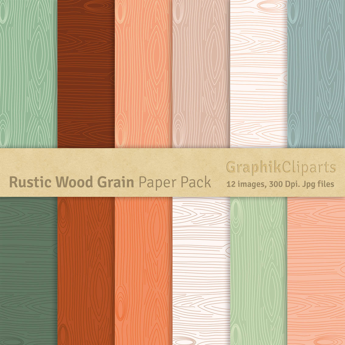 rustic wood grain paper pack patterns on creative market