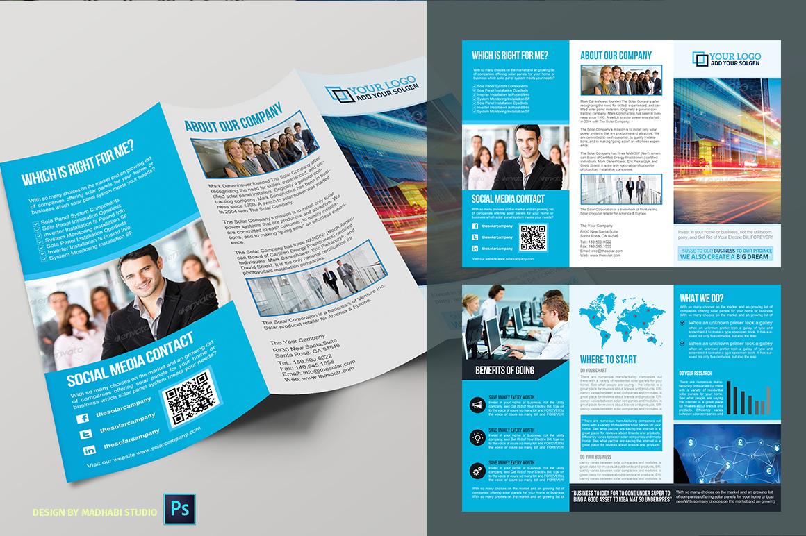 unique brochure templates - trifold business brochure vol01 brochure templates on