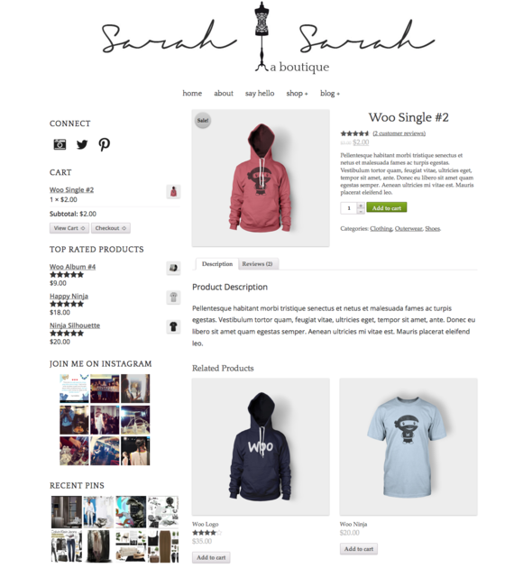 Sarah Sarah: Woocommerce WordPress