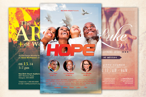 Hope Church Flyer Template Bundle ~ Flyer Templates on ...