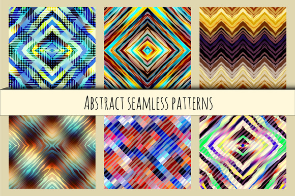 Set Of Geometric Abstract Patterns