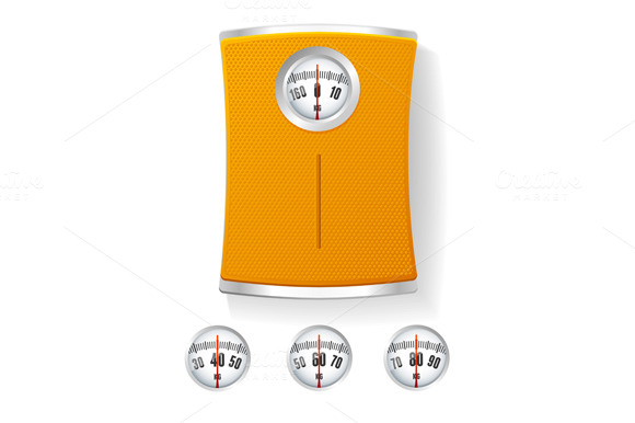 Bathroom Scale. Vector - Objects