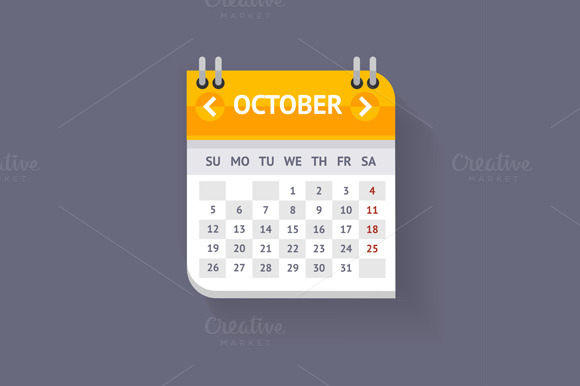Calendar Flat Design. Vecto - Illustrations