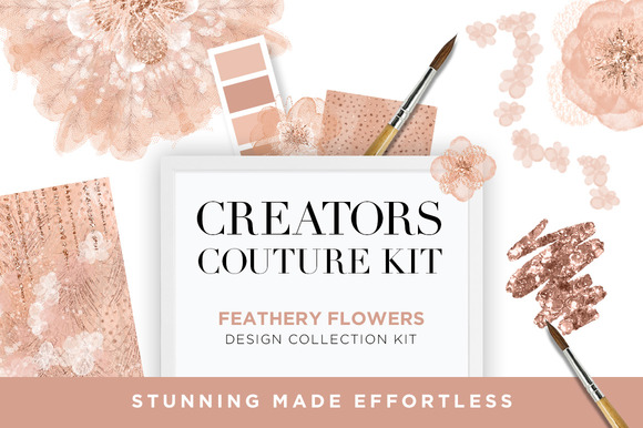 Feathery Flowers Couture Design Kit