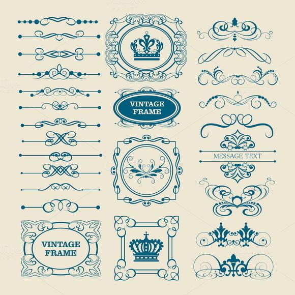 Graphic Design Vintage Element