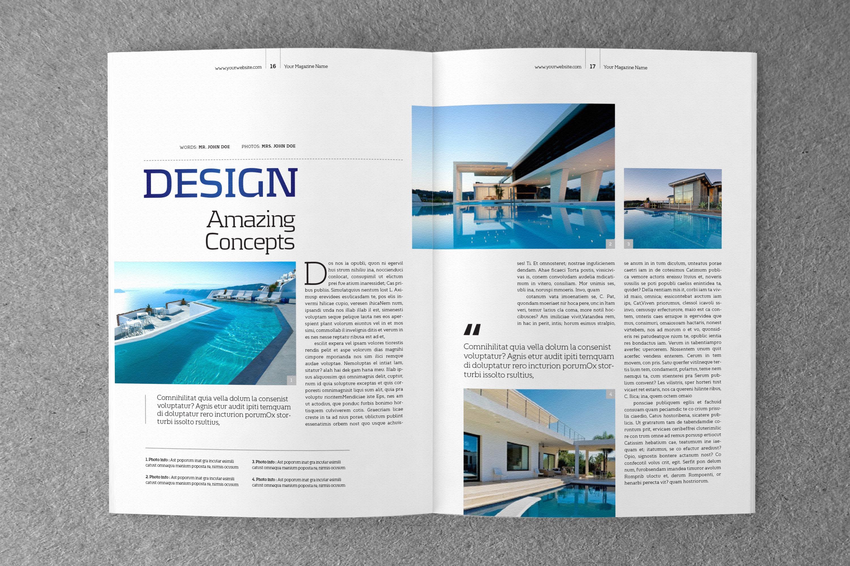 a5 portrait template magazine templates on creative market. Black Bedroom Furniture Sets. Home Design Ideas