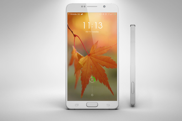 Samsung Galaxy Note 5 16 Pen MockUp