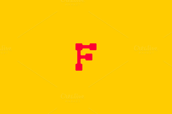 Abstract letter F logo design.