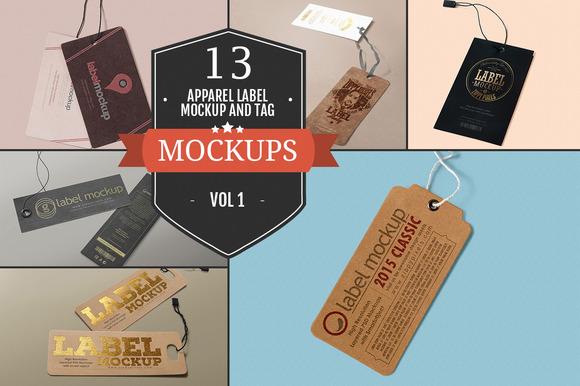 Apparel Label & Tag Mockups Vol. 1 - Product Mockups