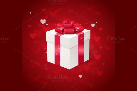 Heart And Gift Box Card