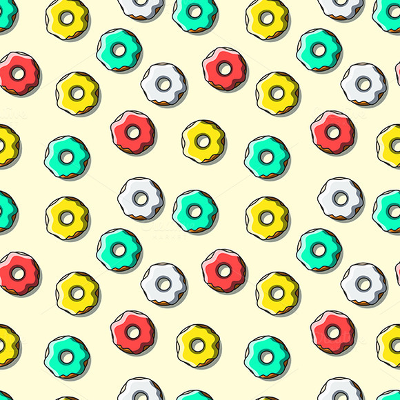 Seamless Pattern Of Bright Multi-col