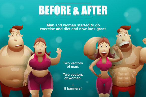 Man And Woman Before After