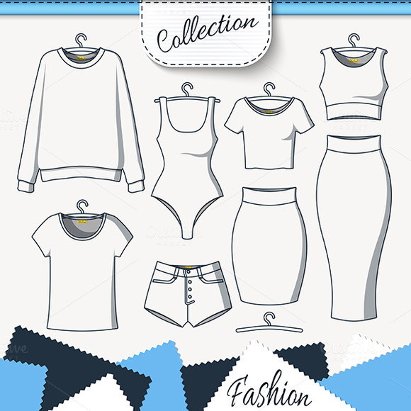 Set Of Clothes To Create Design On W