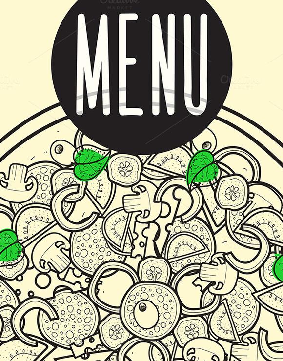Design Menu Background Doodle Of Piz