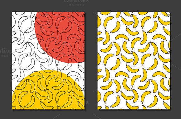Design Background With Doodle Banana