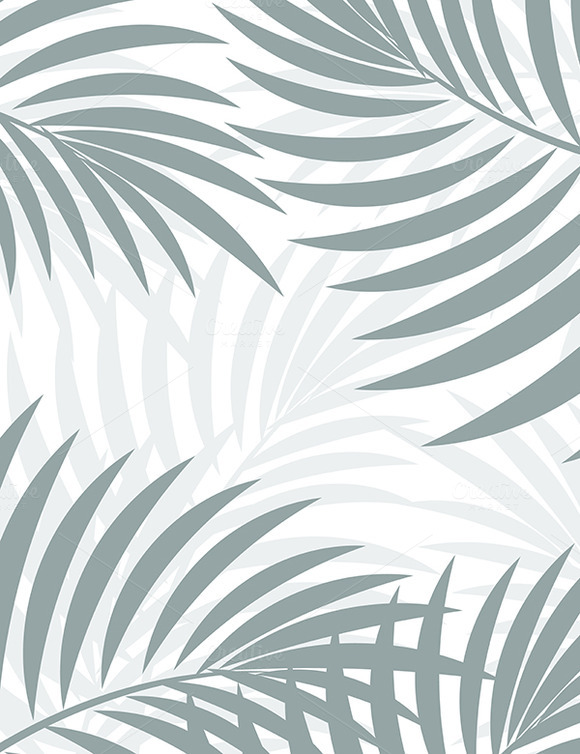 Exotic Background With Palm Leaves F