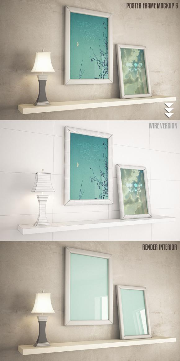 Interior Frame Poster Mock-up